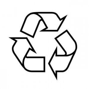 anneau de Moebius simple=emballage recyclable