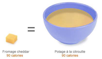 régime Shapiro permet de comparer visuellement les apports en calories