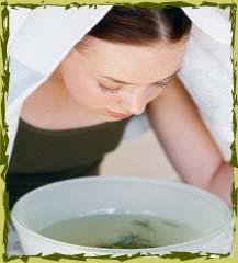 bain de vapeur pour purifier la peau