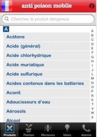 Application iphone anti poison