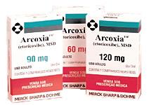 ARCOXIA médicament à éviter