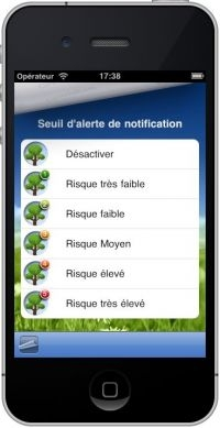 Application iphone allergie pollens