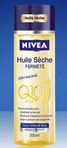Efficacité de l'huile sèche fermeté Nivea