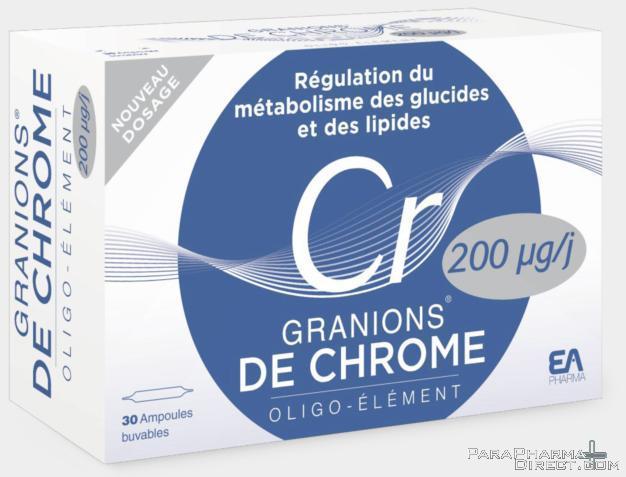 Granions de Chrome pour perdre du poids