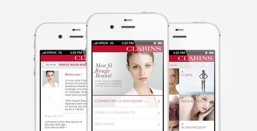 Application beauté Clarins
