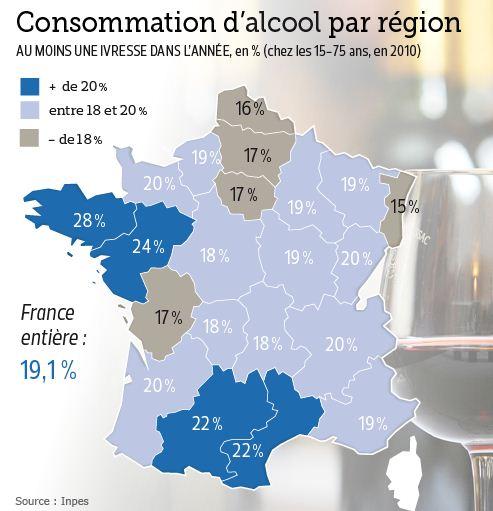 Consommation alcool en France