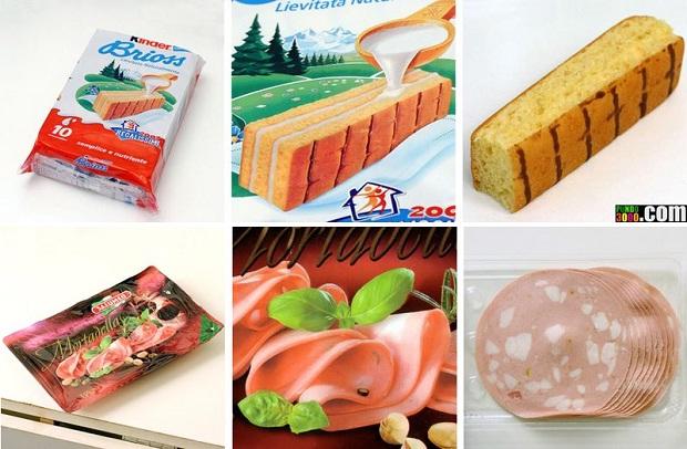 Différences entre photos des emballages de produits alimentaires et réalité