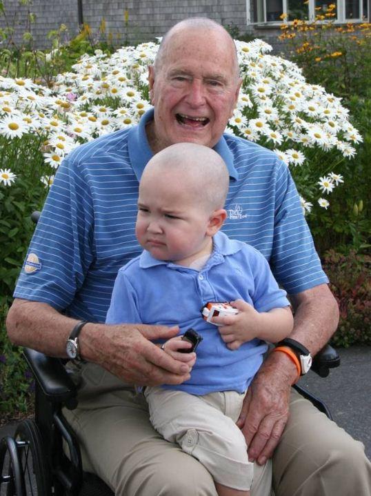 George Bush crane rasé