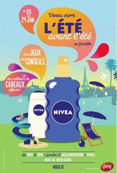 Animation Nivea : terrasse éphémère à Paris