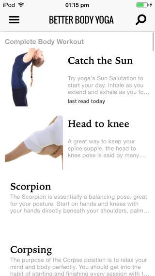 appli sport-Better Body Yoga