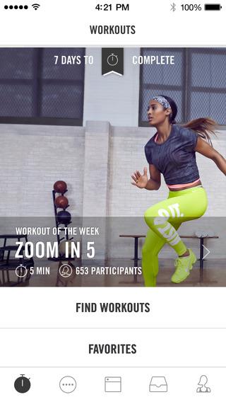 appli sport - nike+ training sport