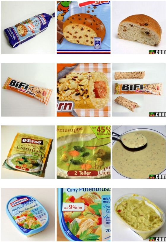 photos emballages produits alimentaires