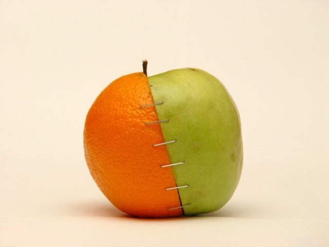 pomme et orange avant et maintenant