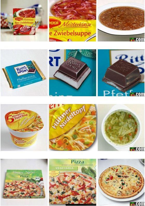 produits alimentaires sur emballages